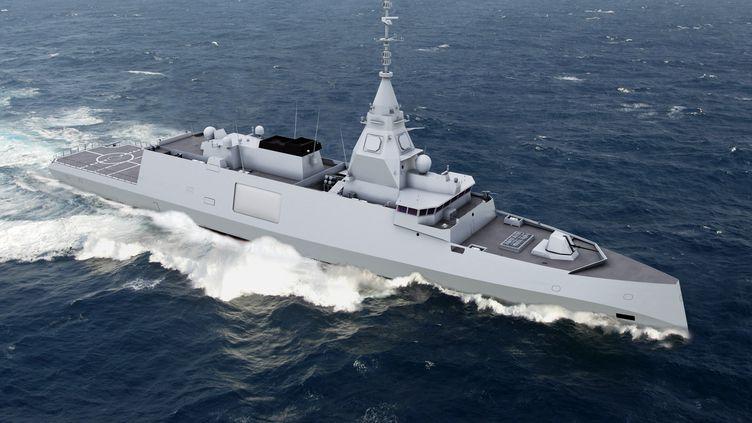 Une image de frégate Belharra fournie par Naval Group (ex-DNCS) en octobre 2018. (DCNS / AFP)