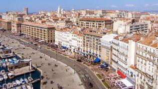 Vue aérienne du vieux port de Marseille. (Illustration) (PIERRE-YVES BABELON / MOMENT RF / GETTY IMAGES)