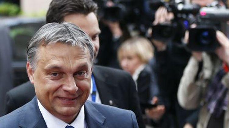 Le Premier ministre hongrois, Viktor Orban, arrive à un sommet de l'UE à Bruxelles le 28 juin 2013. (Reuters - François Lenoir)