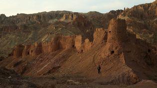 Le site archéologique deBamiyan en Afghanistan en novembre 2019, après un dynamitage par des djihadistes. (MOHAMMAD ALI SHAIDA / AFP)