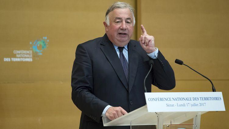 Le président du Sénat, Gérard Larcher, le 17 juillet 2017 à Paris. (IAN LANGSDON / AFP)