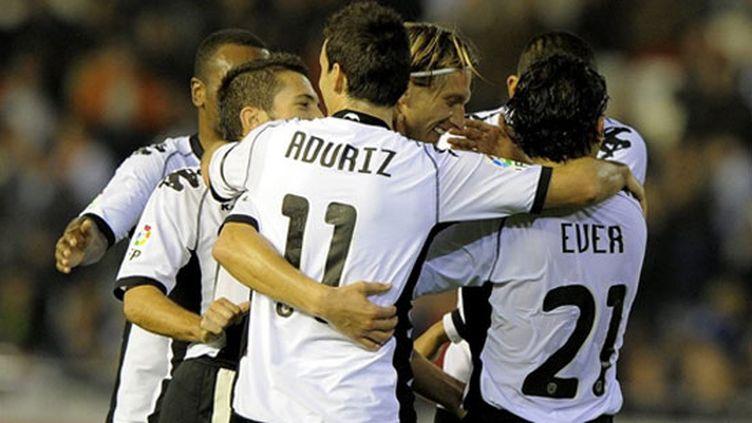 La joie des joueurs du FC Valence.