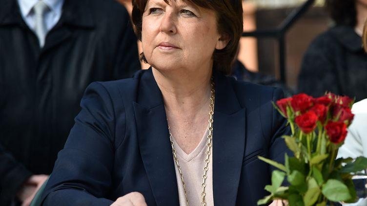 Martine Aubry, le 18 mars 2015, à Valenciennes (Nord). (  MAXPPP)