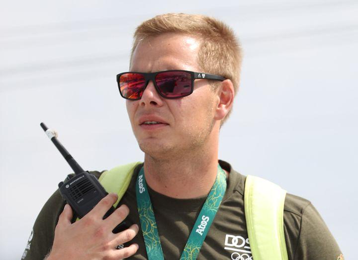 Stefan Henze, coach de l'équipe allemande de canoë, lors des séries des JO-2016, le 7 août 2016 à Rio de Janeiro (Brésil). (FRISO GENTSCH / DPA)