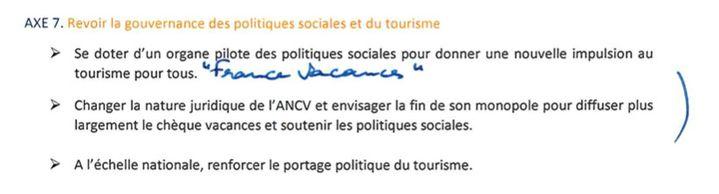Extrait du rapport de la députée Pascale Fontenel-Personne, à propos de l'ANCV. (CELLULE INVESTIGATION DE RADIOFRANCE)