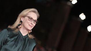 """L'actrice Meryl Streepassiste à une projection de """"Florence Foster Jenkins"""", les 20 octobre 2016 à Rome (Italie). (TIZIANA FABI / AFP)"""