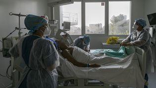 Le service réanimation de l'hôpital de la Timone à Marseille (Septembre 2020, photo d'illustration). (SPEICH FRV?DV?RIC / MAXPPP)