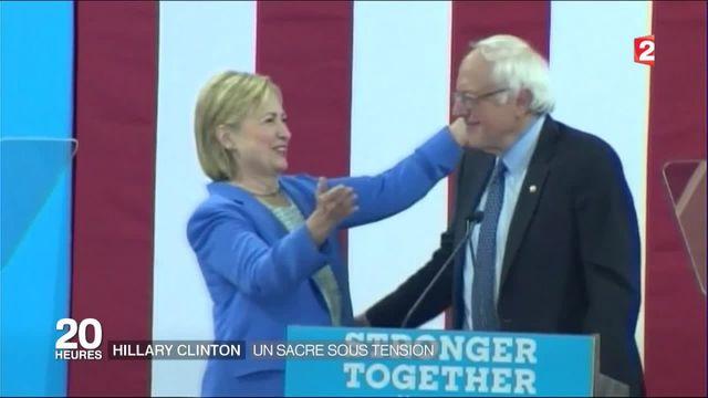 Etats-Unis : Hillary Clinton, un sacre sous tension
