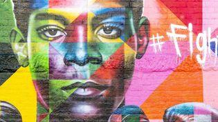 Mur rendant hommage à Jean-Michel Basquiat, par le peintre Eduardo Kobra.  (Ludovic MAISANT / AFP / HEMIS)