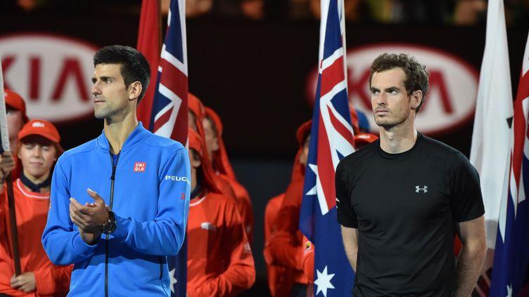 Djokovic-Murray, un duel qui s'inscrit dans l'histoire de l'Open d'Australie. (PAUL CROCK / AFP)