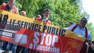 Manifestation contre l'austérité le 15 mai 2014 à Paris. (CITIZENSIDE / CHRISTOPHE ESTASSY / CITIZENSIDE.COM / AFP)