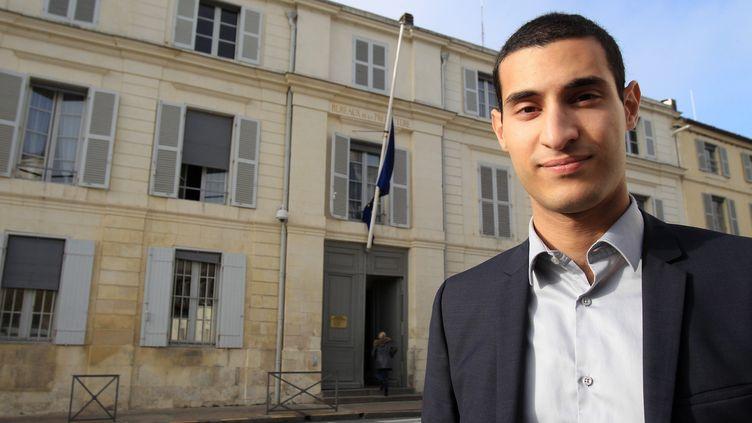 L'ancien porte-parole de La République en marche, Rayan Nezzar, à La Rochelle (Charente-Maritime), le 9 janvier 2018. (MAXPPP)