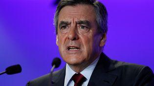 François Fillon, candidat de la droite et du centre à la présidentielle 2017. (THOMAS SAMSON / AFP)