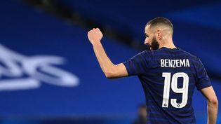 Karim Benzema, le 2 juin, à Nice. (FRANCK FIFE / AFP)