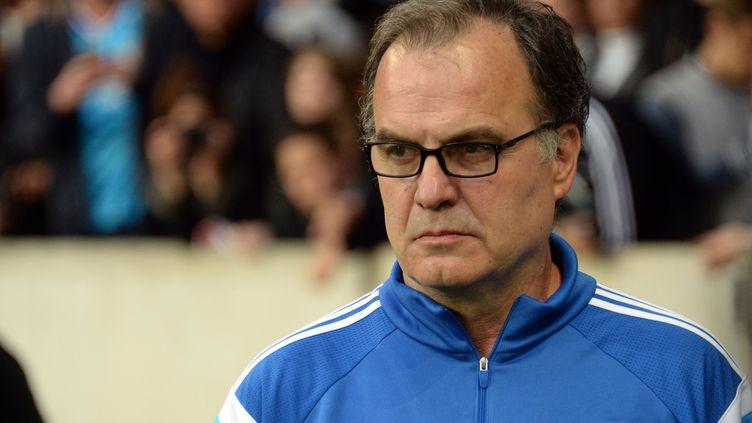 L'entraîneur argentin de l'OM, Marcelo Bielsa, le 16 mai 2015 à Lille. (DENIS CHARLET / AFP)