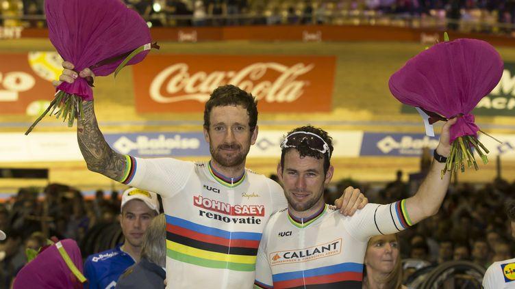 Mark Cavendish et Bradley Wiggins, duo gagnant (KRISTOF VAN ACCOM / BELGA MAG)