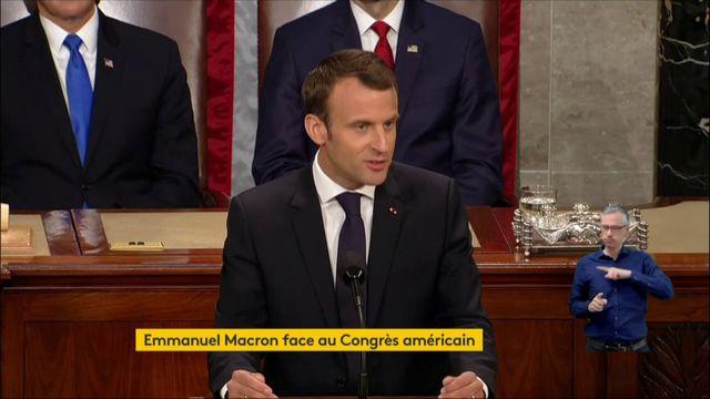 """""""Il n'y a pas de planète B"""", déclare Macron devant le Congrès."""