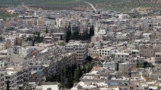 Vue aérienne dela ville d'Ariha dans la province d'Idleb en Syrie, le 29 mai 2015. (GHAITH OMRAN / AL-MAARRA TODAY / AFP)