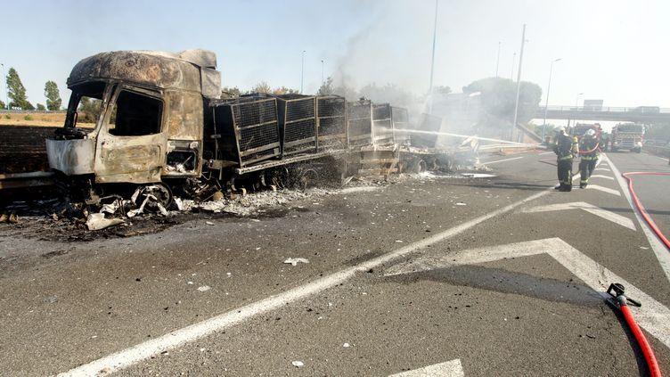 Le gendarme avait tué un chauffeur routier sur l'autoroute A20 à Montauban vendredi 7 août. (MANUEL MASSIP / MAXPPP)