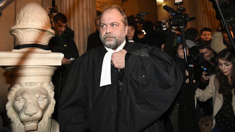 Eric Dupond-Moretti, le 2 novembre 2017 au palais de justice de Paris. (LIONEL BONAVENTURE / AFP)
