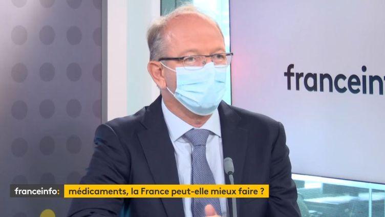 Thierry Hulot, président de Merck France, invité éco de franceinfo,mardi 29 juin. (FRANCEINFO)