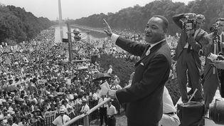 Martin Luther King, le 28 août 1963, lors de la marche sur Washington (Etats-Unis). (AFP)