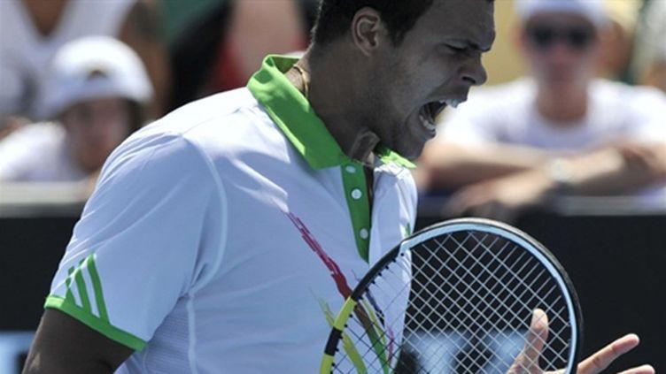 Jo-Wilfried Tsonga grimace (PAUL CROCK / AFP)