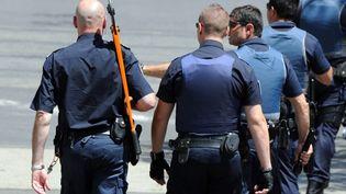 Des policiers le 20 juin 2012 dans le quartier de la Paillarde, à Montpellier. (SYLVAIN THOMAS / AFP)