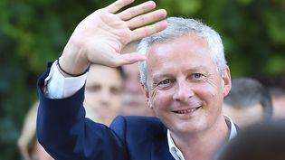 Bruno Le Maire lors d'un meeting à Aigues-Mortes (Gard), le 24 août 2016. (SYLVAIN THOMAS / AFP)