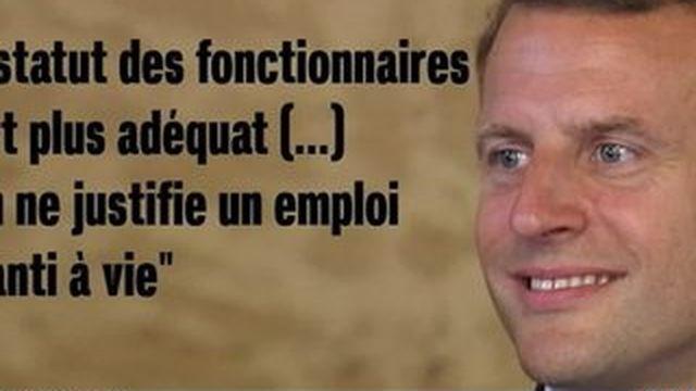 Macron recadré par François Hollande après sa déclaration sur les fonctionnaires
