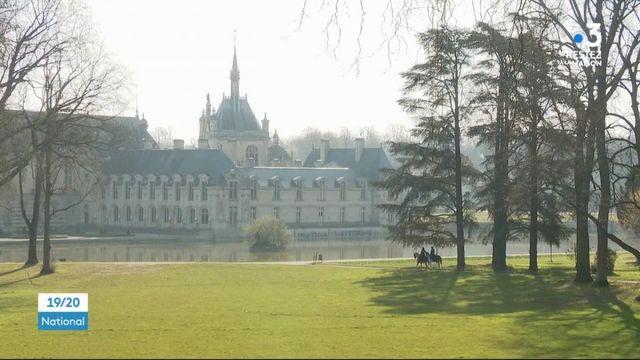 Oise : le château de Chantilly, presque endormi