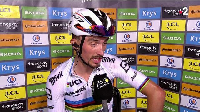 VIDEO. Julian Alaphilippe réagit après sa victoire lors de la première étape