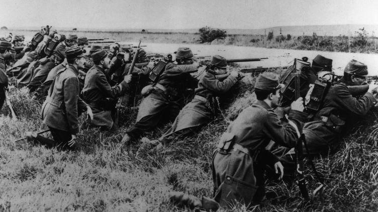 Offensive française en Alsace, au mois d'août 1914. (THE ART ARCHIVE / AFP)