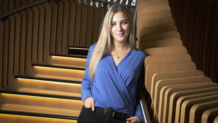 La youtubeuse Victoria Charlton à Paris le 16 janvier 2020 (PHILIPPE DE POULPIQUET / MAXPPP)