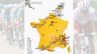 Le parcours du Tour de France 2015 a été rendu public, le 22 octobre 2014. (LE TOUR / MAXPPP)