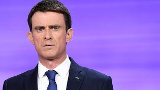Manuel Valls, lors du débat de l'entre-deux-tours, le 25 janvier 2017. (BERTRAND GUAY / AFP)