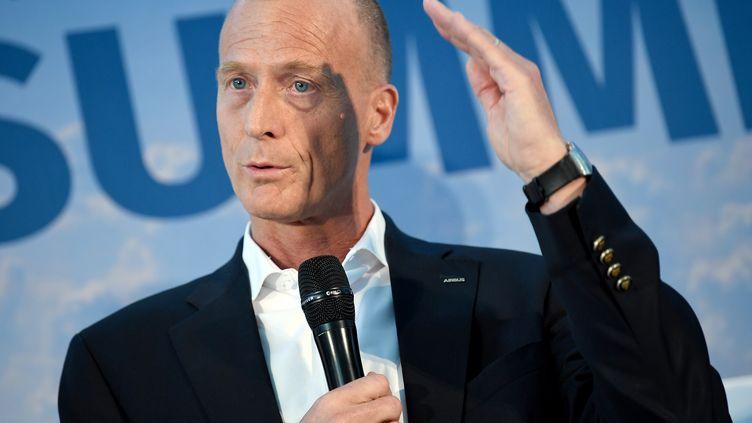 Tom Enders, PDG d'Airbus, en avril 2018. (BRITTA PEDERSEN / DPA-ZENTRALBILD / AFP)