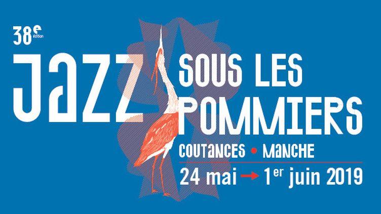 Affiche de l'édition 2019 du festival Jazz sous les pommiers (24 mai-1er juin 2019) (L'Atelier du Bourg)