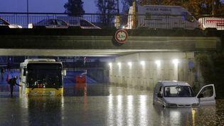 De fortes précipitations se sont abattues sur Nice (Alpes-Maritimes), jeudi 31 octobre 2019. (MAXPPP)