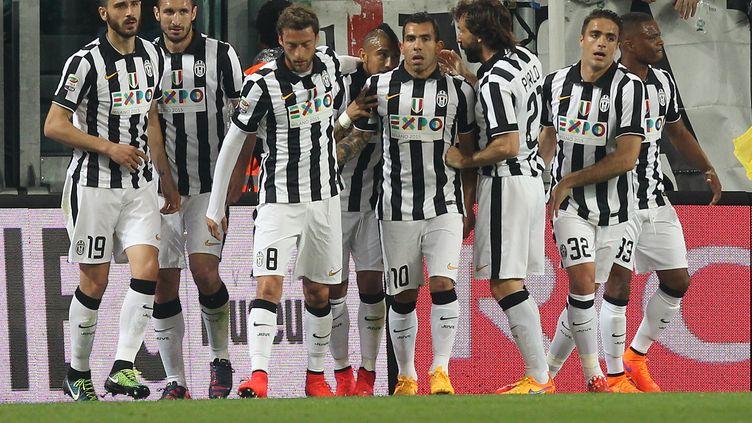 Les joueurs de la Juventus Turin (MARCO BERTORELLO / AFP)