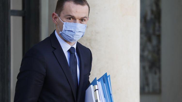 Olivier Dussopt, à la sortie du Conseil des ministres à l'Elysée, le 4 novembre 2020 à Paris. (LUDOVIC MARIN / AFP)