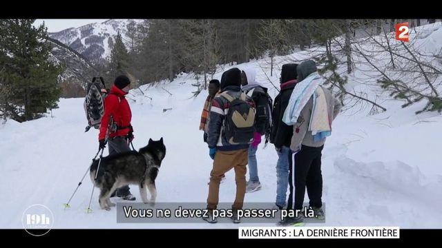 Avec les migrants qui passent le col de l'Echelle en plein hiver