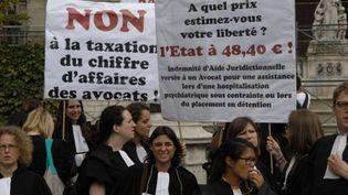 Manifestation des avoacats, à Paris, le 7 juillet 2014. (CITIZENSIDE/PATRICE PIERROT / CITIZENSIDE.COM)