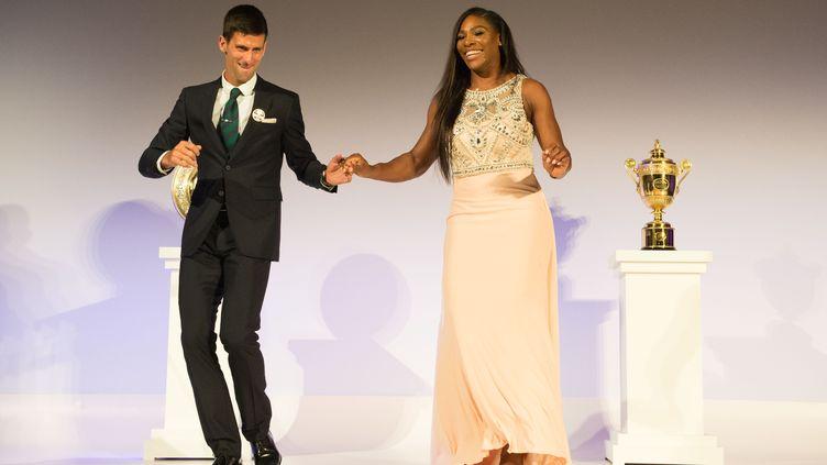 Serena Williams et Novak Djokovic au gala après leur victoire à Wimbledon (AELTC/THOMAS LOVELOCK / AELTC)