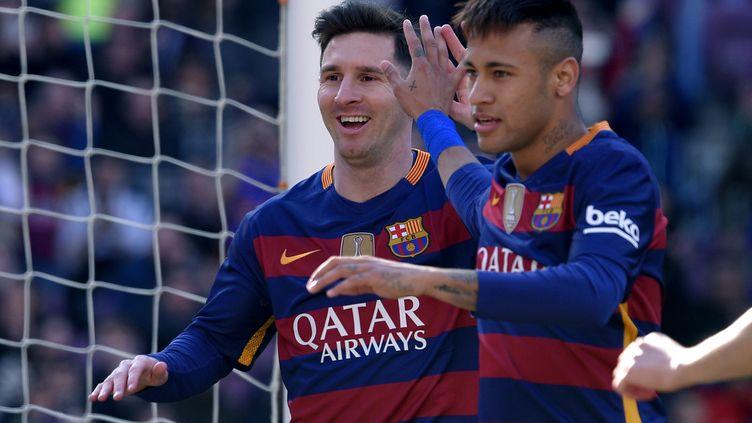 Lionel Messi et Neymar font toujours la joie du Barça (LLUIS GENE / AFP)