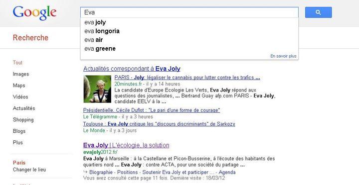 """Quand """"Eva Joly"""" arrive devant """"Eva Longoria"""". (DR)"""