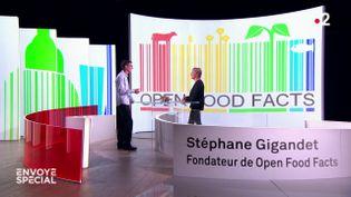 """Stéphane Gigandet, fondateur de Open Food Facts, invité d'""""Envoyé spécial"""". (ENVOYÉ SPÉCIAL  / FRANCE 2)"""
