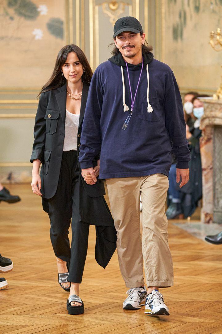 Victoria Feldman et Tomas Berzins, les deux créateurs de la marque Victoria/Tomas (ALESSANDRO LUCIONI / GORU)