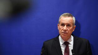 François Molins donne une conférence de presse à Paris, le 3 octobre 2018. (CHRISTOPHE ARCHAMBAULT / AFP)