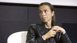 Agnès Saal, alors présidente de l'INA, lors d'un colloque, à Paris, le 21 octobre 2014. (  MAXPPP)
